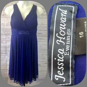 Jessica Howard Evening Royal Blue Party Dress